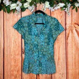 Signiture by Larry Levine Button Up Top 1208CH3